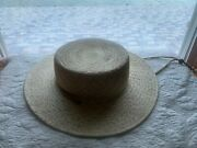 Lack Of Color Wanderer Boater Hat - Size Small, Color Beige/off-white. New.