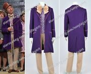 Charlie And The Chocolate Factory Cosplay Willy Wonka Costume Suit Full Set Cool