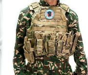 Multicam Tactical Vest Plate Carrier With Pouches And Soft Armor Inserts Iiia