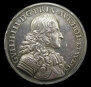 1677 Marriage Of William Iii To Mary 41mm Silver Medal