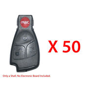 Remote Fob Case Shell 4b Compatible With Mercedes Benz Smart Key 50 Pack