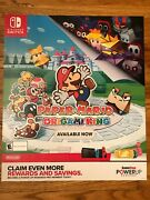"""Paper Mario The Origami King Authentic 28""""x 24 '' Gamestop Poster +free Ship🔥"""