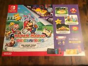 Paper Mario The Origami King Authentic Gamestop Promotional Poster +free Ship🔥