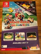 Paper Mario The Origami King Authentic 48 X 33 Gamestop Promotional Poster🔥