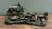 Beautiful Vintage Handmade Solid Sterling Silver Stagecoach Model