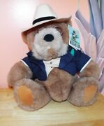 Gund Lands' End Big Daddy Rugby Plush Bear 1992 Collectors Edition. W/ Hang Tag