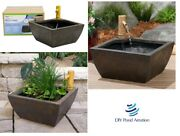 16 Porch And Patio Small Pond Kit W/ Bamboo Fountain - Water Feature - Zen Garden
