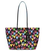 New Disney Dooney And Bourke Black Mickey Mouse Balloon 10th Shopper Tote Bag