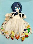 💙 Vtg Snow White 7 Dwarves Evil Queen And Witch Topsy Turvy Dollrare Mary Self