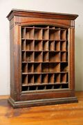 Antique Apothecary Cabinet Wood Cupboard Farmhouse Industrial Hardware Store