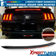 Fits 15-21 Ford Mustang Coupe Trunk Spoiler And Led Brake - Oem Painted Color