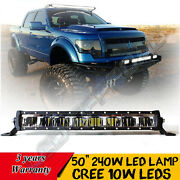 50 Inch Led Light Bar Offroad For Jeep Cherokee Xj 1984-2001 Driving 4wd Truck