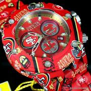 Nfl Reserve Subaqua Specialty San Fran 49ers Hydroplated Steel Watch New
