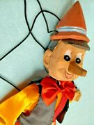 💙 Vintage 17 Pinocchio 🕺marionette/puppet Carved Wood