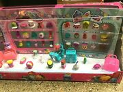 Shopkins Moose Toys Display Case With Many Shopkins Figures