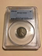 1914-d Pcgs Vf35 1c Lincoln Cent Wheat Ears Penny 3029