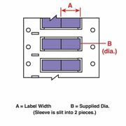 Brady Ps-094-2-vt-2 1 X 3/16 Violet Wire Marking Sleeves