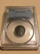 1914-d Pcgs Vf35 1c Lincoln Cent Wheat Ears Penny 8920
