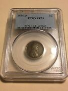 1914-d Pcgs Vf35 1c Lincoln Cent Wheat Ears Penny 5605