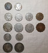 Iraq King Ghazi I Full Coin Set Of 1938 F To Au Condition Including 1fils 1938i