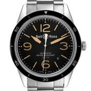 Bell And Ross Sport Heritage Black Dial Steel Mens Watch Brv123 Box Card