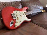 [super Rare ] Moon Pgm Stratocaster See-through Red Lightweight