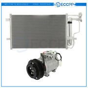 Ac Condenser And Ac Compressor Cooling Kit For 2010-2013 Mazda 3