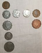 Iraq King Ghazi I Semi Full Coin Set Of 1938 F To Au Condition 9 Coins