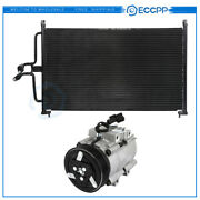 Ac Condenser And Ac Compressor Cooling Kit For 2005-2006 Ford Escape Mazda Tribute