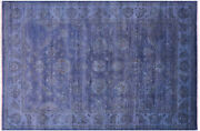 Full Pile Overdyed Hand Knotted Wool Rug 6and039 0 X 8and039 11 - Q10434