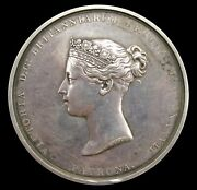 1837 Victoria Royal Academy Of Arts 55mm Silver Medal - By Wyon