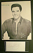 Elvis Presley Orig Sign Autograph Card And Photo At Spectrum 1976 Concert
