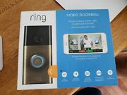 Ring Wi-fi Enabled Video Doorbell In Antique Brass New