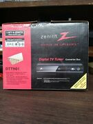 Zenith Dtt901 Digital Tv Tuner Converter Box Remote Cables Manual New Fast Ship