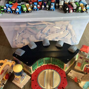 Thomas The Tank Engine And Friends Wooden Trains, Tracks And Buildings Lot Rare