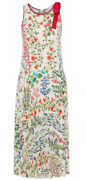 Red Valentino Pleated Floral-print Dress Sz 40 = Fits Us S - Nwot Rt 968.00 +tx