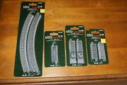 Kato N Scale Unitrack Straights Curves Bumpers Uncoupler Lot Of 4, 20-120 20-032