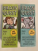 Brain Quest Ages 2-3 And 3-4 My First Questions To Build Vocabulary - New Sealed