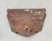 1947 Chevy Fleetmaster Upper Grille Baffle Lower Hood Latch Mounting Plate