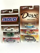 Hot Wheels Dove, Snickers, M And M's All 6 Cars Mint Complete 2013 Real Riders