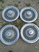 Vintage 1979 Oldsmobile Cutlass Wire Hubcaps Wheel Covers