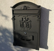 Large Retro Mailbox Wall Mounted Post Box Letterbox Outdoor Lockable Waterproof.