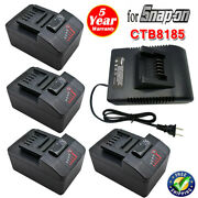 10x 18v Battery / Charger For Snap On Ctb8185 Ct8850 Ctb8187 Ct7850 7185 Ctc720