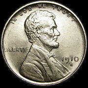 1910-s Lincoln Cent Wheat Penny Us Coin ---- Gem Bu+ Details ---- S349