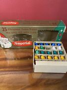 24 Vintage Indoor Christmas Lights Blue White Green Yellow Replacements.