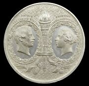 1858 Marriage Of Victoria And Frederick 42mm White Metal Medal