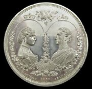 1871 Marriage Of Louise 54mm White Metal Medal - By Ottley
