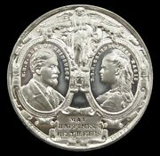 1874 Marriage Of Alfred And Marie Of Russia 38mm White Metal Medal