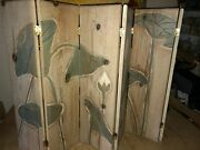 Carved Solid Wood Fireplace Cover Screen Arts And Crafts 6 Panel Cabin Farmhouse