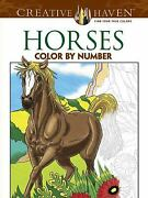Creative Haven Horses Color By Number Coloring Book Paperback Geo